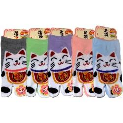 Chaussettes tabi enfants - Pointure 26 à 35 - Maneki Neko