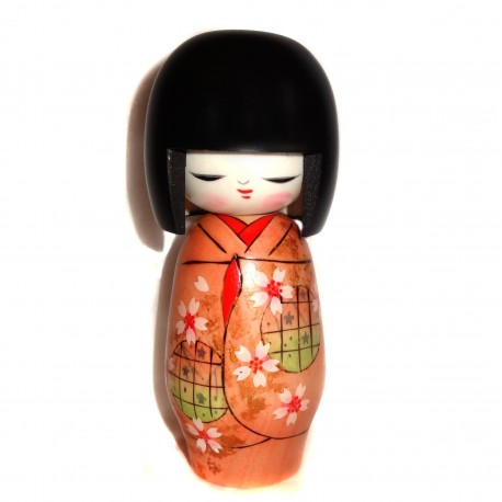 Kokeshi doll - Utage. Japanese traditional wooden dolls.