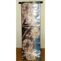 Fukuro obi en soie - motifs floraux