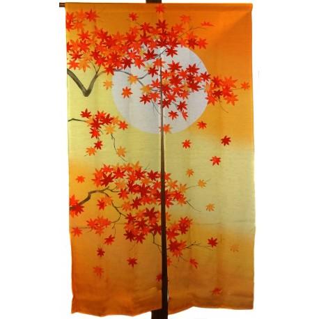 Noren en polyester et lin - Momiji. Rideaux japonais en ligne.
