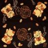 Furoshiki Japanese cloth 50x50 brown - Maneki Neko