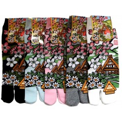 Tabi socks - Size 35 to 39 - Minka prints