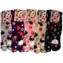 Crew Tabi socks - Size 35 to 39 - Kittens prints