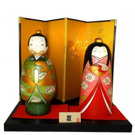 Poupées Kokeshi - Tachibina. Poupées japonaises en bois