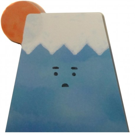 Mount Fuji sticky memo. Japanese stationery products