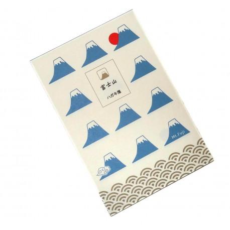 Cartes postales Mont Fuji. Articles de papèterie japonaise.