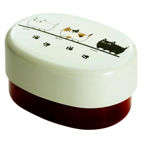 Bento Lunch box - Three cats. Japanese lunchbox