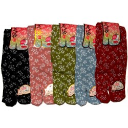 Crew Tabi socks - Size 35 to 39 - Sakura prints