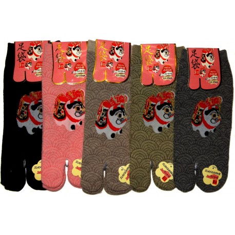 Tabi socks - Size 35 to 39 - Inu-Hariko print. Split toes socks.