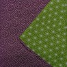 Furoshiki Japanese cloth 105x105 - reversible - Seigaha and Asanoha
