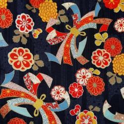 Textile cut 205 x 110 cm - Tabanenoshi-mon print