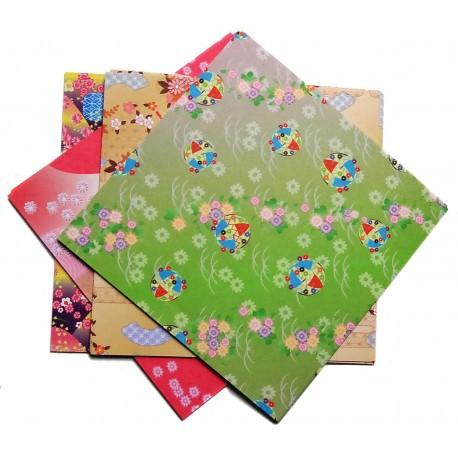 Papier origami chiyogami 15 x 15 cm - 100 feuilles