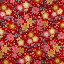 Tissu 200 x 110 cm - Motifs Sakura