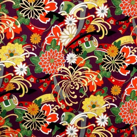Tissu et textile japonais coupon 110 x 200 cm
