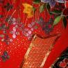Iro-Uchikake - Wedding kimono - Cranes and Tabanenoshi-mon motifs