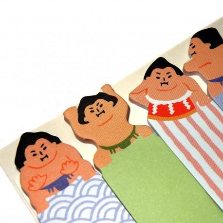 Sumotori sticky bookmarks. Japanese stationery products.