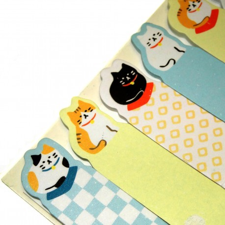 Neko cats sticky bookmarks. Buy japanese stationery products.