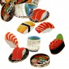 Sushi stickers. Japanese stationery items and products.