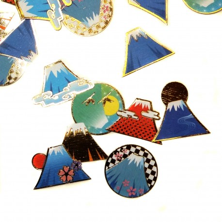 Mount Fuji stickers. Japanese stationery products.