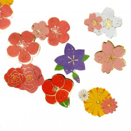 Stickers hana fleurs. Articles et produits de papèterie japonaise.