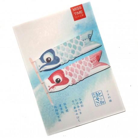 Post-it Koinobori. Articles et produits de papèterie japonaise.