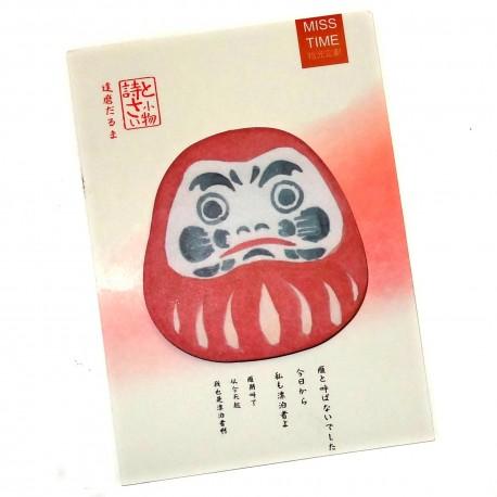 Daruma sticky memo. Japanese stationery shop.