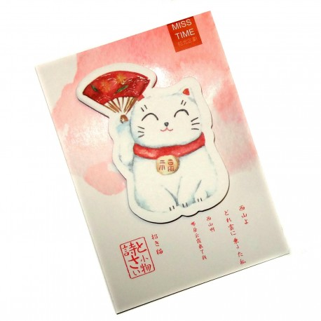 Post-it Maneki Neko. Articles et produits de papèterie japonaise.