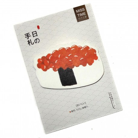 Ikura sushi sticky memo. Japanese stationery shop.