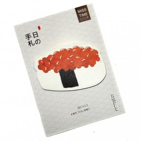 Post-it Ikura sushi. Articles et produits de papèterie japonaise.