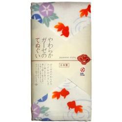 Gauze towel 90x34 cm - Kingyo and Asagao