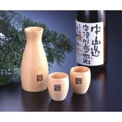 Cypress Sake Set
