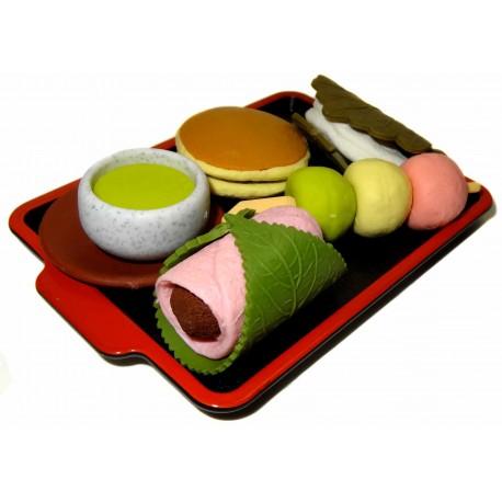 Gommes Wagashi - Lot de 5