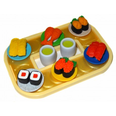 Kaiten-zushi funny Erasers - Set of 8pcs