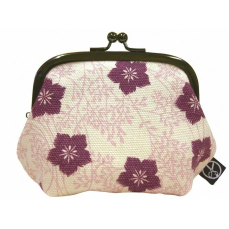 Cotton Japanese coin purse - Nadeshiko
