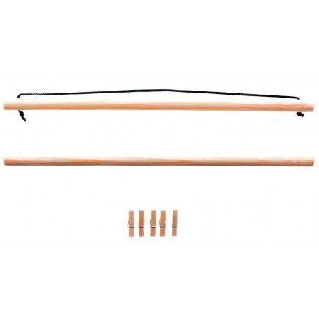 Wooden hanger for Tenugui