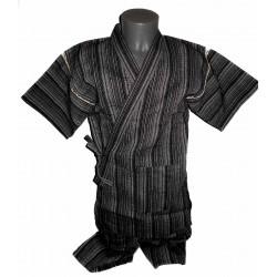 Jinbei 98 noir chiné - Taille LL - Coton