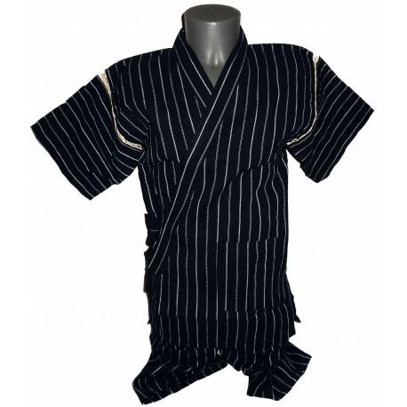 Tunique japonaise Jinbei 101 bleu nuit - Taille LL - Coton