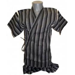 Jinbei 104 noir et gris - Taille LL - Coton