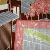 Furoshiki 50x50 Sakura - Tama no Sanpo. Tissus  et textile japonais.