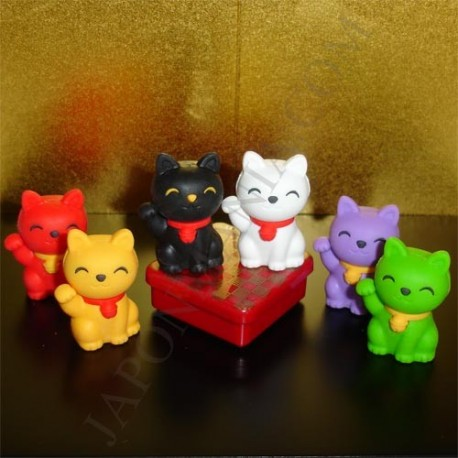 Manekineko Erasers - Set of 6pcs