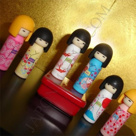 Kokeshi Erasers - Set of 6pcs