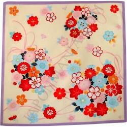 Furoshiki cloth 50x50 cream - flowers prints