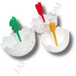 Bento accessories - Eggshells picks okazu cups - 3pcs