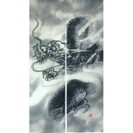 Noren en lin & polyester - Grand dragon
