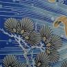 Furoshiki 118x118 bleu - motifs de carpes