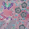 Furoshiki cloth 50x50 pink - floral and butterflies prints