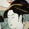 Furoshiki cloth 48x48 pearl grey - Utamaro's Three Beauties