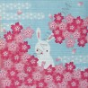 Furoshiki 50x50 - 4 seasons rabbits prints