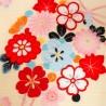 Furoshiki tissu 50x50 crème - Motifs floraux