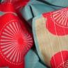 Furoshiki réversible 104x104 - Fleurs de prunier